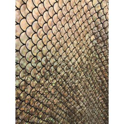 Gold 4-Way Stretch Mermaid Scales on Nylon Spandex