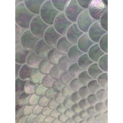 White 4-Way Stretch Mermaid Scales on Nylon Spandex