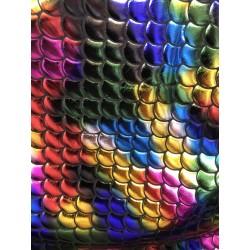 Multi-Color Hologram 4-Way Stretch Mermaid Scales on Nylon Spandex