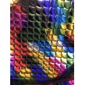 Multi-Color Hologram 4-Way Stretch Mermaid Scales on Nylon Spandex