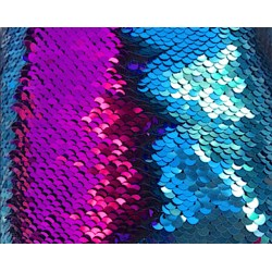 Turquoise & Fuchsia Reversible Two Tone Sequins