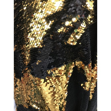 Black & Gold Reversible Two Tone Sequins