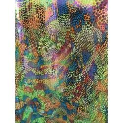 Multi-Color Hologram 4-Way Stretch Camo/Animal Print on Nylon Spandex