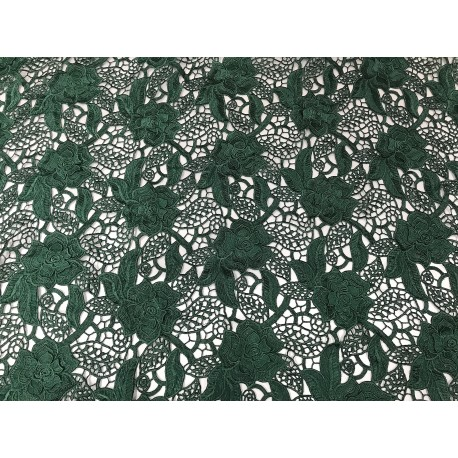 Green 3D Guipure Lace
