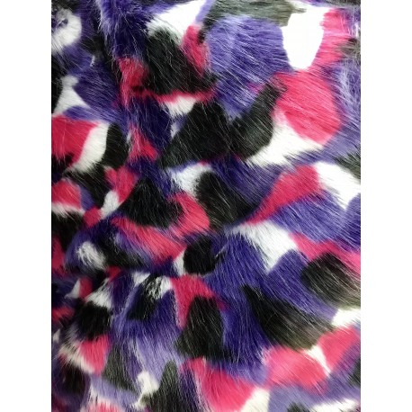 Multi Color Shaggy Long Pile Faux Fur