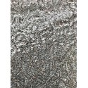 Silver Designed Sequin On Stretch Mesh