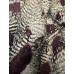Fancy Feather Shaggy Long Pile Faux Fur Purple