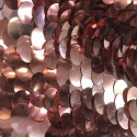 Metallic Rose Gold Large Payette Sequins On Mesh