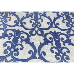 Royal Blue Ikat Design Heavy-Duty Upholstery