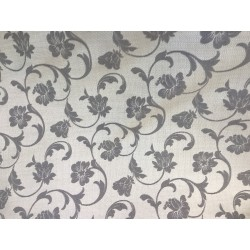 Gray Floral Design Heavy-Duty Upholstery