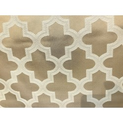 Beige Jacquard Bishop Design Heavy-Duty Upholstery