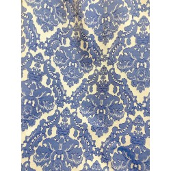 Royal Blue Jacquard Damask Heavy-Duty Upholstery
