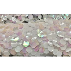 Iridescent White Extra Large Paillette 3cm Sequin
