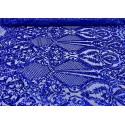 Four-Way Stretch Royal Blue Sequin Lace On Power Mesh
