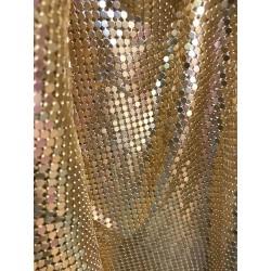 Gold Handmade Metal Mesh Chain Link Panel