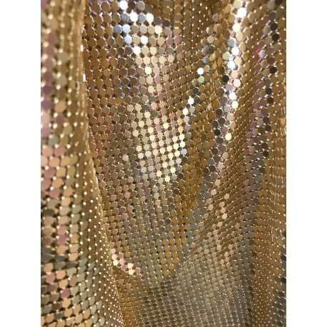 Gold Handmade Metal Mesh Chain Link Panel