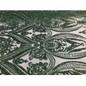 Four-Way Stretch Hunter Green Sequin Lace On Power Mesh