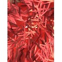 Matte Red Icicle Shaped Paillette Sequin On Mesh