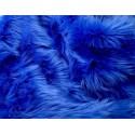 Royal Blue Shaggy Long Pile Faux Fur