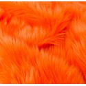 Orange Shaggy Long Pile Faux Fur