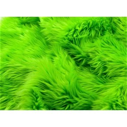 Lime Green Solid Faux Fur