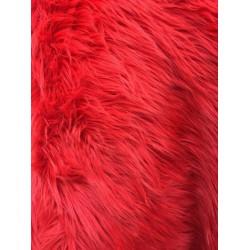 Red Shaggy Long Pile Faux Fur