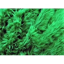 Green Shaggy Long Pile Faux Fur