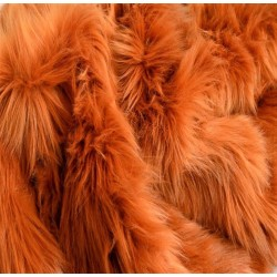 Amber Shaggy Long Pile Faux Fur
