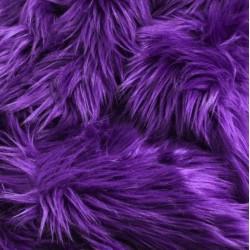Purple Shaggy Long Pile Faux Fur