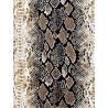 Black & Taupe Snake Skin Charmeuse Satin Print