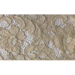 Taupe Light Weight Guipure Lace