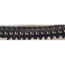 Black Guipure Lace Trim