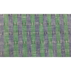Three Tone Blue Green Stripe Jacquard Linen