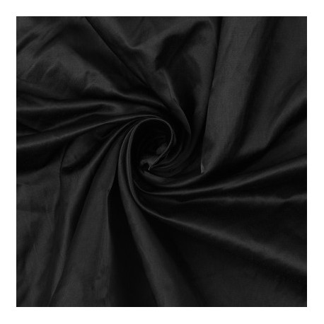 Black Polyester Charmeuse Satin