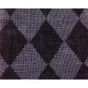 Perry Black Lithuanian Quilted Double Mesh Yarn Dyed Linen
