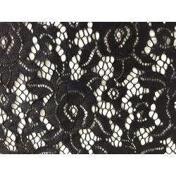 Black Stretch Polyester Lace