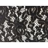 Black Stretch Polyester Lace