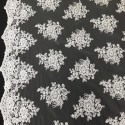 White Lace with Sequins