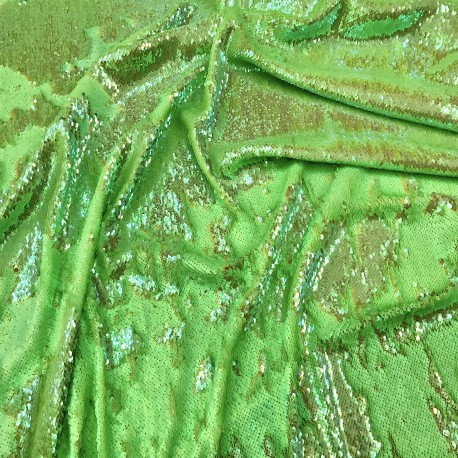 Iridescent Multi & Bright Green Reversible Two Tone Sequins