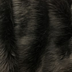 Black Solid Faux Fur