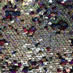 Multi Color & Silver Reversible Two Tone Sequins