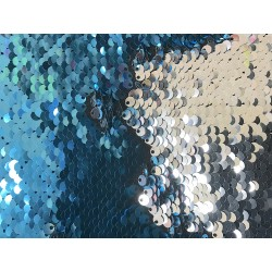 Light Blue & Silver Reversible Two Tone Sequins