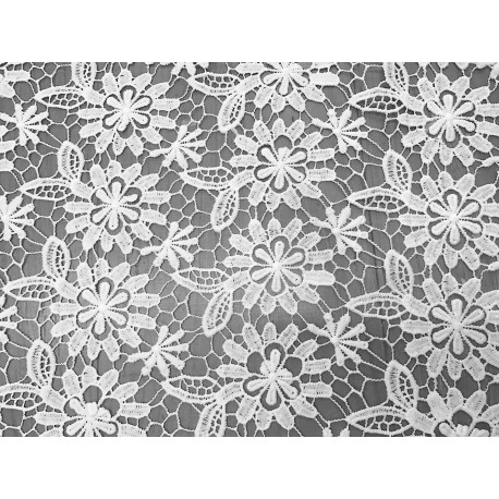 White Lightweigth Guipure Lace