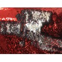 Red & Silver Reversible Two Tone Sequins
